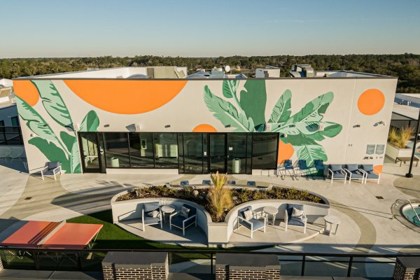 Gainesville Hub 3Rd Ave Rooftop Mural Aerial 05 Web